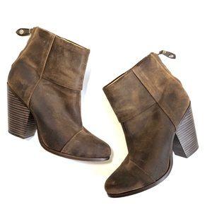 Rag & Bone Classic Brown Leather Newbury Booties